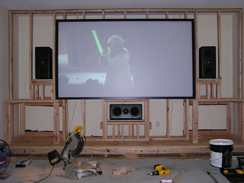Is drywall better than plywood for a screen wall avs forum home theater discussions and reviews - Home theater screen wall design ...