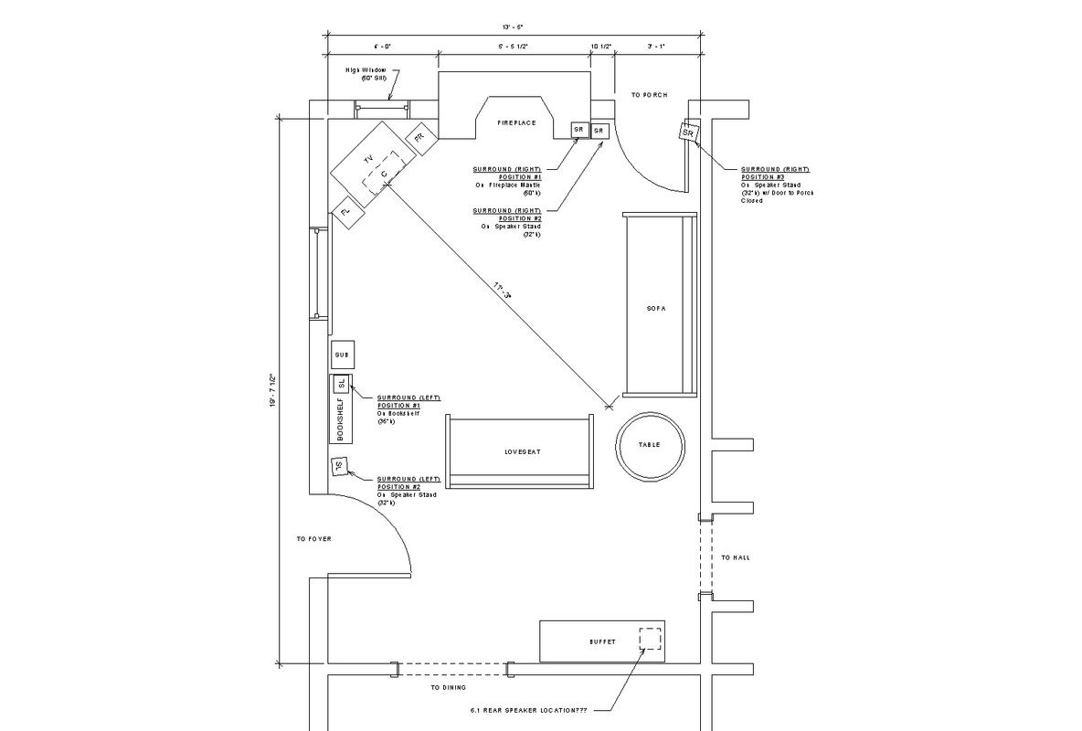 Help With Speaker Placement   Diagram Included