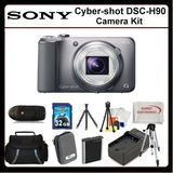 Sony CyberShot DSC-H90 Digitsl Camera Kit Includes: Sony Cyber-shot DSCH90 (silver), Extended Life Replacement Battery, Rapid Travel Charger, 32GB Memory Card, Memory Card Reader, Hard Case, Large Carrying Case, LCD Screen Protectors, Clean