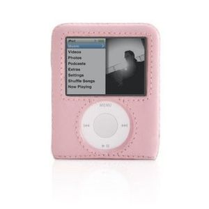 Griffin Technology Griffin Elan Form Hard-Shell Leather Case for iPod nano 3G (Pink) MP3 / iPOD Accessories