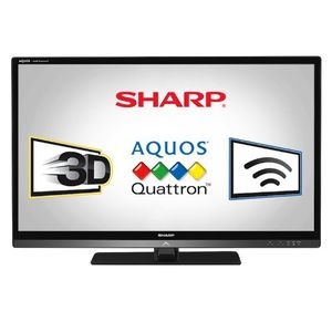 Sharp LC40LE835U Quattron 40-inch 1080p 240 Hz 3D LED-LCD HDTV, Black