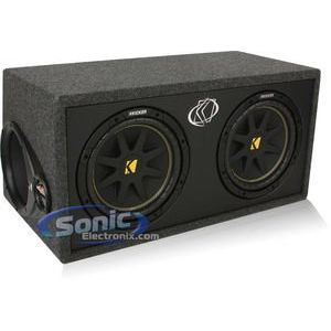 Kicker DC10 Dual 10 inch Comp Series Loaded Subwoofer Enclosure with 2 ohm Final Impedance