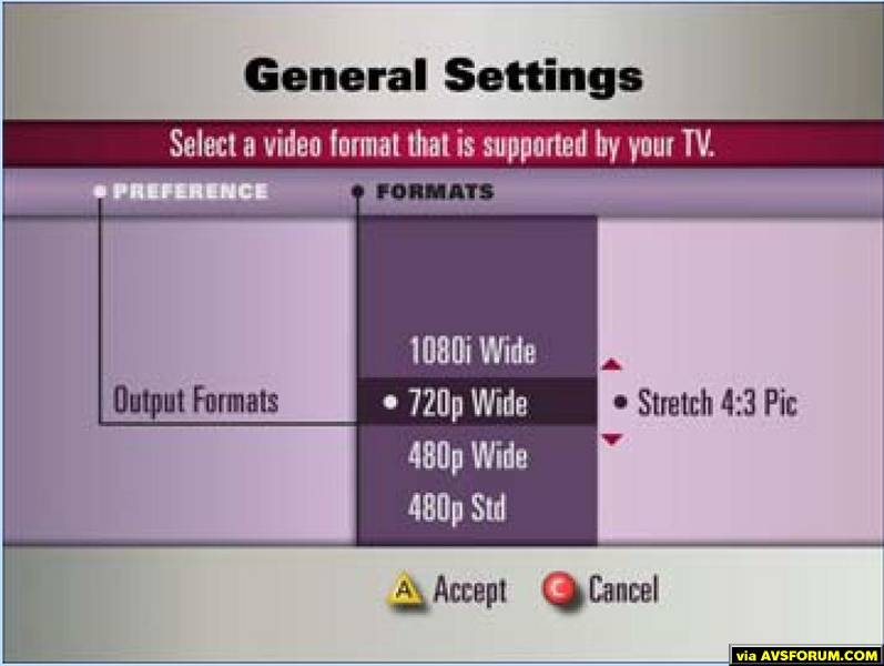 DVR Settings Dialog