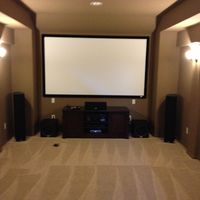 Front sound and video stage installed and positioned.