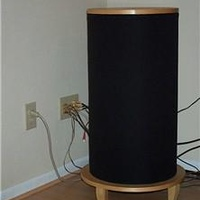 I built this custom subwoofer to support the inwall speakers.