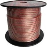 AVOX 1000 Feet of 18 Gauge Clear Twin Lead Speaker Hookup Wire