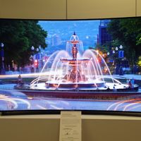 Samsung's humongous 105-inch curved UHDTV—at this size, a curved screen starts to make sense