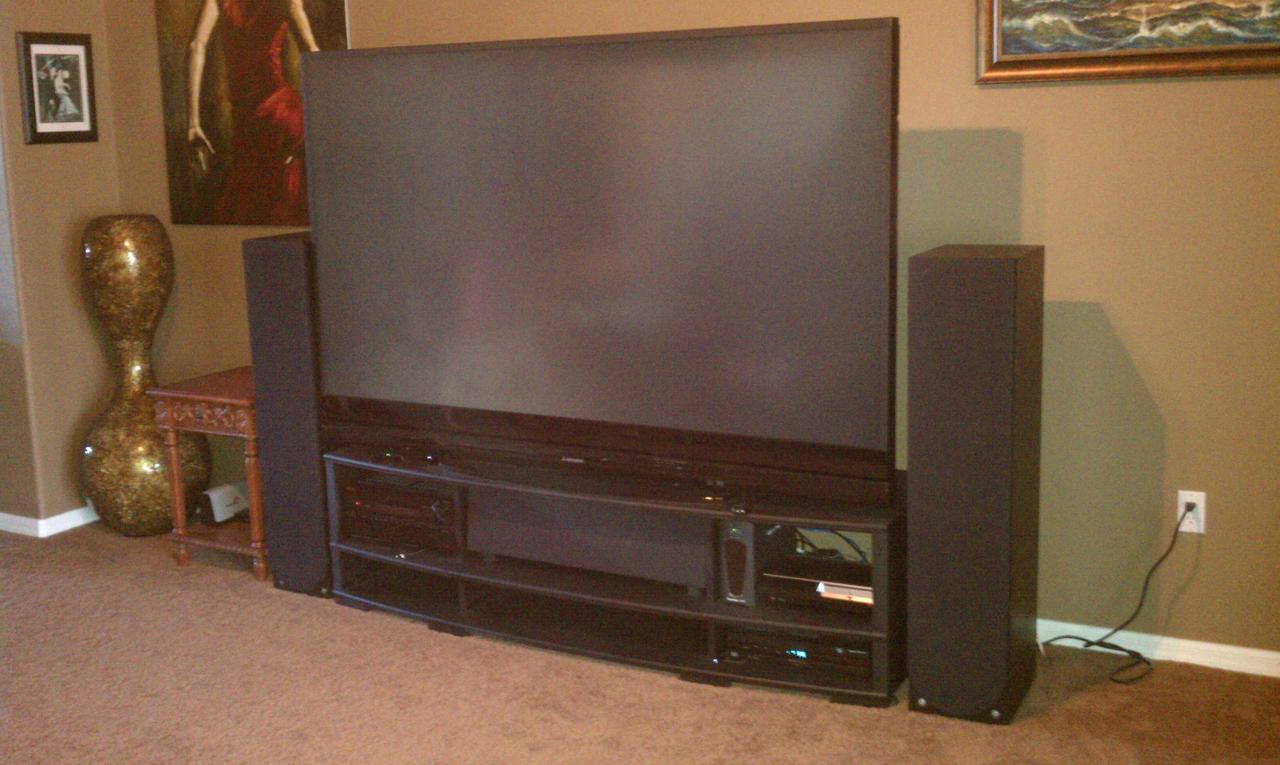 Tv Stand for my Mitsubishi 82-738 DLP TV - AVS Forum | Home Theater
