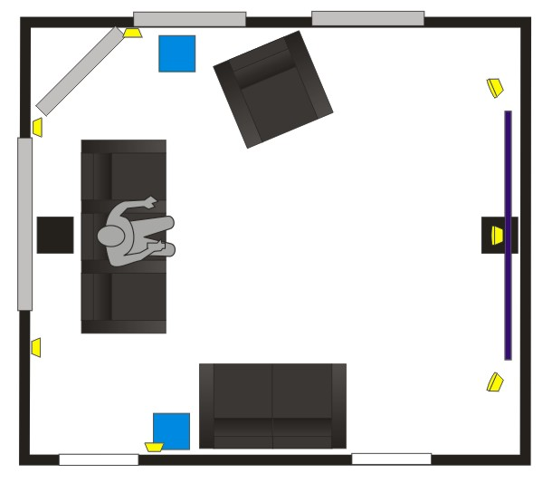 Need Help With 5 1 Surround Speaker Placement Difficult
