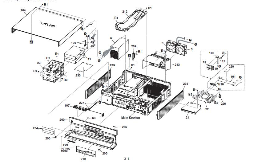 sony vaio parts diagram