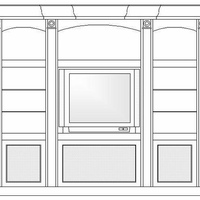 This is an elevation drawing of the cabinet you see in my other photo