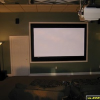 "Screen is a Da-Lite 119"" 16:9 ratio with High Power fabric.