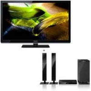 "Panasonic Smart VIERA TC-P55UT50 55"" Class UT50 Series Full HD 3D Plasma HDTV, 2500 Focused Field Drive, 2D-3D Conversion + Bundle - with Panasonic SC-HTB350 2.1-Channel Home Theater System"