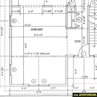 We are building a house and planning out a surround setup in the living room and eventually a home theater in the basement.  Here is the builders design plans for the living room.  The sweet spot will be directly in front of where the vaulted...