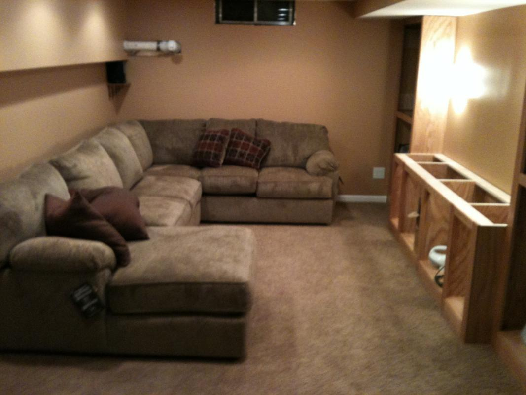 Basement Media Room Modest Basement Media Room Avs Forum Home Theater Discussions
