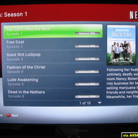 Here are some screen shots of NetFlix being streamed onto my XBOX 360 via XBOX Live.  The screens are easy to navigate and you are provided with rating tools, detailed movie descriptions and cover art.  