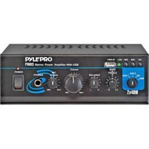 Pyle MINI 2X40 WATT STEREO POWERAMPLIFIER W/ USB/AUX IN (Home Audio Video / Receivers, Amps & HTIB)
