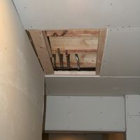 Access to water lines for future bathroom buildout