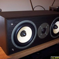 The $99CAD Omage center speaker. Just looks great in black, even though it's vinyl laminate and not wood.