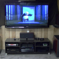 RX2's,  RX-Center,  (2) SVS PB12 Plus,  Onkyo 805 and slim PS3