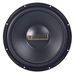 "Brand New Quantum Audio QAW15D2 15"" 2500 Watt Peak / 625 Watt RMS Dual 2 Ohm Car Subwoofer with Stamped Steel Frame and Aluminum Dome"