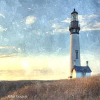 Yaquina Head Light, Oregon - Watercolor