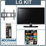 LG 32LK330 32 inch Class LCD HDTV, with Advanced Kit (2 HDMI Cables, 1 RGB Cable, 1 Audio Cable, Plasma / LCD Cleaning Kit, Belkin 6-Outlet Surge Protector, TV Wall and Ceiling Mount)