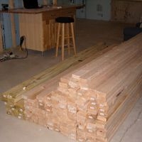 Lumber pile going down