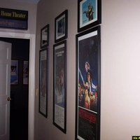 Insert Posters and autographs of the three first episodes.  Mylar light box above the entrance
