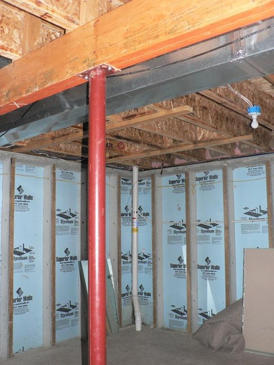 Wood Support Beams ~ Support beam as part of soffit avs forum home theater