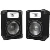 New Home PA DJ Karaoke Bookshelf Black Pro Audio Two Way Deluxe Speaker Pair E825