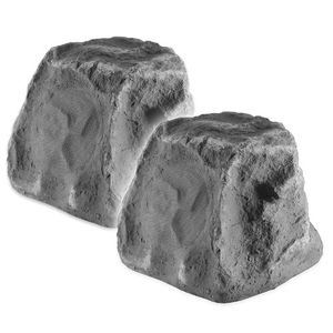 OSD Audio RX550 Compact Outdoor Rock Speaker, Pair (Slate Grey)