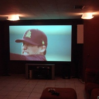Viewing HDTV on my projector setup, with ambient lighting.