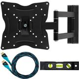 "Cheetah Mounts ALAMLB LCD TV Wall Mount Bracket with Full Motion Swing Out Tilt and Swivel Articulating Arm for 23-37"" Flat Screen Displays with VESA 100 or 200 Mount Patterns"