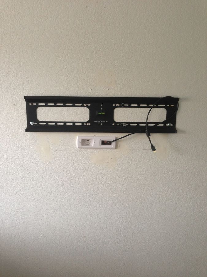 Monoprice wall mount with Powerbridge installed