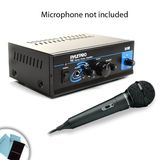 Mini Stereo 2x15W Power Amplifier w/ Speaker, Headphone and PA Output for Behringer / Shure / Audio-Technica / Sony / Nady and Many More Microphones! **Microfiber Cleaning Kit Included!**