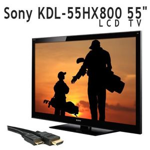 "Sony KDL-55HX800 55"" 1080p 3D Ready LCD TV + Free 6FT HDMI Cable with Ethernet"
