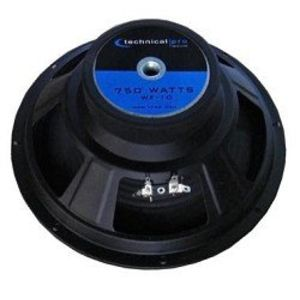 Technical Pro WF10 10 Raw Subwoofer Black