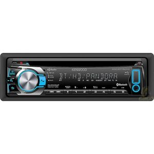 Kenwood KDC-BT752HD In-Dash CD Receiver with Built-in Bluetooth, Built-in HD Radio, Illuminated Front USB for iPhone/iPod and Android as Mass storage device, Partial Variable Color Key Illumination, Pandora App Ready for iPhone and Android