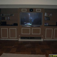 This are the newest images of my Home Theater setup. The next big step is my carpet that goes in next week.