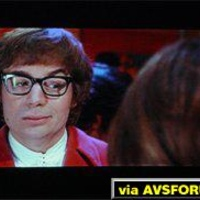 Austin Powers DVD projected on a Proxima DS-2 DLP projector.