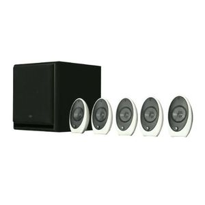 KEF KHT1005.2SE 5.1 Subwoofer Satellite System with C4 Subwoofer (Gloss White)