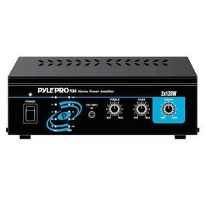 Pyle Home PCA4 Mini 2x120 Watt Stereo Power Amplifier