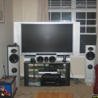 yamaha 5790, xbox, panasonic dvd player, athena f-1, c-1, and b-1 all around.