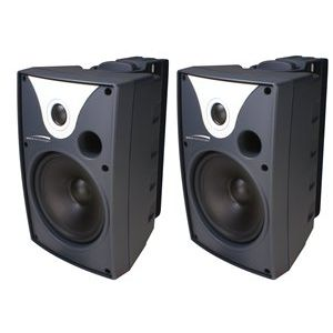"NEW 6"" Outdoor Speaker Black (Pair) - SPC-SP6AWX"