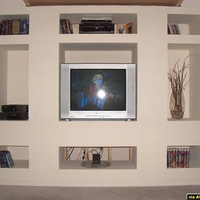 Here's a picture of my entertainment unit we built with the screen up
