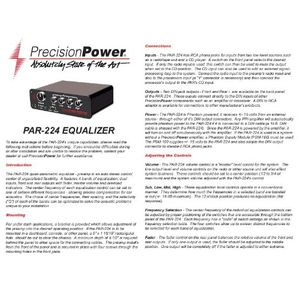 Precision Power PAR-224 Preamplifier
