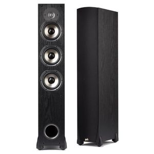 Polk Audio Monitor 65T Three-Way Ported Floorstanding Speaker (Single, Black)