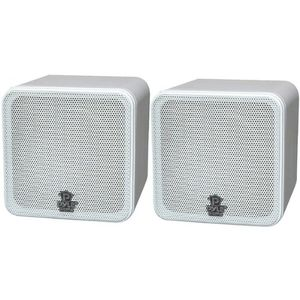 "AWM 4"" Mini-Cube Bookshelf Speakers"