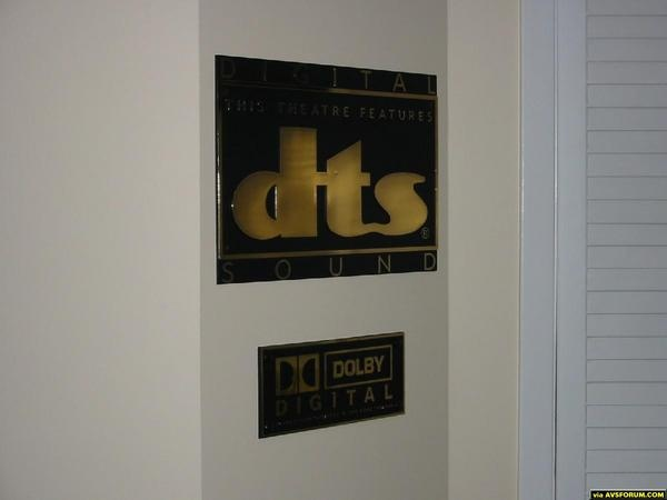 DTS and Dolby Digital Plaques